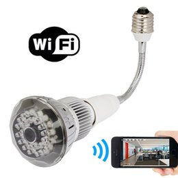 p2p bulb camera 2019 - HD 1080P Wifi Camera E27 LED Lamp Bulb Security Camcorder Motion Detector Night Vision Camera P2P Videp Recorder Nanny C