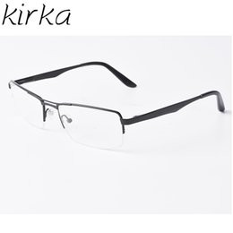 Discount myopia glasses male eyeglasses frame - Mens Eyewear Frames Clear Metal Frame Glasses Eyeglass Frames For Men Black Optical Eyeglasses Man For Myopia Glasses Ma