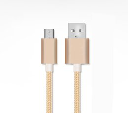 $enCountryForm.capitalKeyWord UK - Cell Phone Cables For Android 1M 2M 3M Micro USB Nylon Braid Cable High Speed Data Sync USB Charger