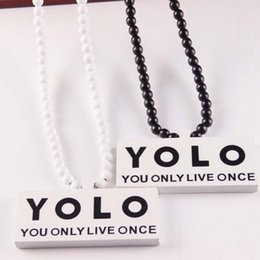 $enCountryForm.capitalKeyWord NZ - Newest Wood YOLO Pendant Necklace Hip Hop For Women Men Good Wood Necklace Jewelry Clothing Accessories