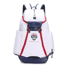 f6d596e53 Men Women Outdoor Bags Packs Backpack Olympic USA Team normal version Large  capacity Gym sports bag travel bag shoes bag basketball Backpack