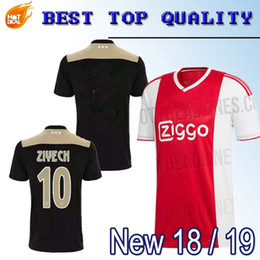 293a615fd New Ajax away Soccer Jersey 18 19 Ajax away balck Soccer Shirt 2019  Customized  14 CRUIJFF KLAASSEN DOLBERG NOURI football uniform Sales