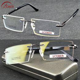 4a7074ca70 2017 Hot Selling Brand Titanium Rimless Ultra Light Frame Can Custom Made  myopia reading glasses photochromic progressive