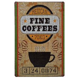 wholesale antique tin signs UK - Coffe Designs Vintage Metal Signs Home Decor Cafe Bar Decoration Plaque Pub Decorative Metal Wall Art Plates Tin Sign Retro 20x30cm