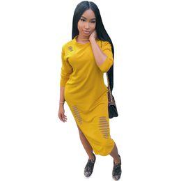 1988f4540df Hollow out design dress online shopping - Autumn New Solid Long Sleeve Women  Dresses Long Design