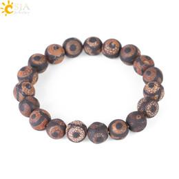 $enCountryForm.capitalKeyWord Canada - CSJA 11mm Black Brown Stripe Agate Bracelet Natural Stone Round Beads Bohemian Reiki Bangle Men Women Yoga Meditation Prayer Jewelry F249