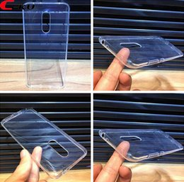 Discount phone back covers factory - 1mm Clear Soft TPU Case For Redmi 5 Plus NOTE5 Xiaomi 6X Redmi NOTE5 Pro Transparent Crystal Phone Skin Cover Low Factor