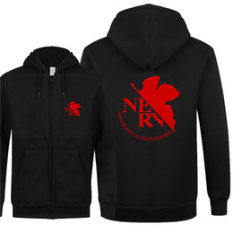 Cool Sweatshirt Jackets Australia - Omnitee Autumn Pullover EVA Neon Genesis Evangelion Hoodies Cool Printed EVA Sweatshirt Men Fleece Zipper Jacket Men Clothing