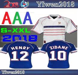 1998 RETRO VINTAGE ZIDANE HENRY MAILLOT DE FOOT Thailand Quality soccer  jerseys uniforms Football Jerseys shirt white away finals 6d7d71d11