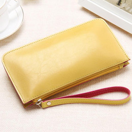 Korean Bags Canada - Korean version fashion candy color twin clutch 2018 summer new woman zipper soft faux leather women bags lady mobile phone bag