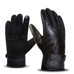 Anti Slip Men Thermal Winter Fitness Sport Leather Screen Tactical Gloves Mittens Luva Motociclista Male Guantes Eldiven Bicycle Back To Search Resultsapparel Accessories