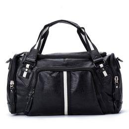 $enCountryForm.capitalKeyWord NZ - PU Leather Men Travel Shoulder Bags Overnight Duffel Weekend outdoor Handbag Luggage Large Tote Bags Leisure Business Laptop Crossbody