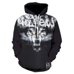 $enCountryForm.capitalKeyWord NZ - Plus Size Wolf Hoodies 3d Print Animal Wolf Men's Hoody Sweatshirt Alisister Hip Hop Unisex Pullover With Big Pockets Tops