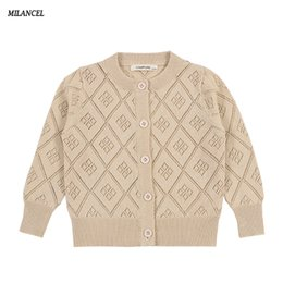 $enCountryForm.capitalKeyWord UK - MILANCEl 2018 Girls Sweater Hollow Out Children Clothing Brief Girls Cardigans Pure Cotton Kids Knitwear Solid Sweater for