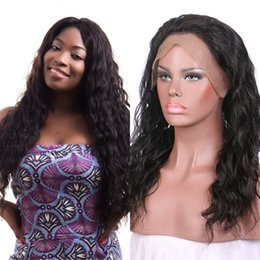 lace front wig human hair 28 Australia - Peruvian Human Hair Water Wave Lace Front Wig with Baby Hair 360 Lace Frontal Wig Pre Plucked Hairline FDshine