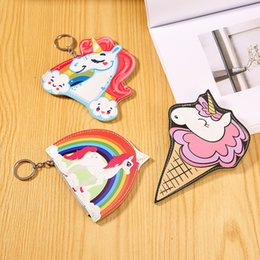 Latest new bags online shopping - Portable PU Card Package Unicorn Zipper Zero Purse For Children The Latest New Pattern Cartoon Coin Bag smb W