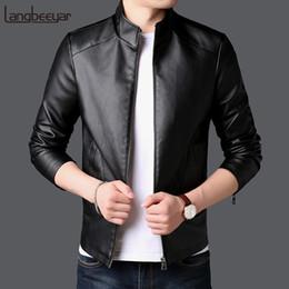 Korean Motorcycle Jacket Australia - 2018 Autumn Winter New Fashion Brand Faux Leather Jacket Men Motorcycle Streetwear Coat Korean Black High Quality Men Clothes