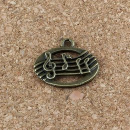 Earrings notEs musical online shopping - Musical note Charms Pendants x17mm Antique bronze Alloy Fashion Jewelry DIY Fit Bracelets Necklace Earrings A