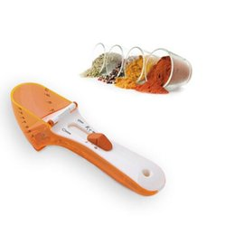 China Plastic adjustable measuring spoon with scale 5ml-30ml kitchen measuring cup meausre tool for Dry and Liquid Ingredients GGA621 40pcs supplier kitchen spoon plastic suppliers