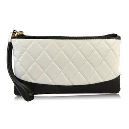 $enCountryForm.capitalKeyWord NZ - Women Genuine Leather Clutch Handbag Wristlet Purse Cellphone Mobile Case Holder Quilted Designer Brand New Lady Bag