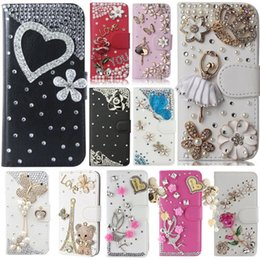 samsung j7 prime leather flip cover UK - wholesale Cover For Samsung J7 Prime 2 G611F, Diamond Rhinestone PU Leather Flip Cover Wallet Case Bling