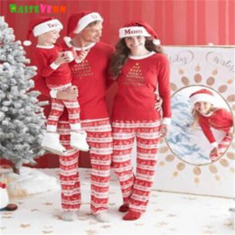 $enCountryForm.capitalKeyWord NZ - 2017 Christmas Family Matching Outfits Parent Kids Child Clothes Set Baby Suit Long Sleeve Pullover Pajamas Sleepwear
