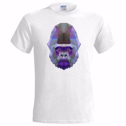 China GEOMETRIC GORILLA ART COLOURED DESIGN MENS T SHIRT APE GIFT ANIMAL PRESENT 2018 fashion t shirt 100% cotton tee shirt supplier art gorillas suppliers