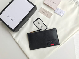 Best Brand leather purses online shopping - best quality brand designer men Wallet with box genuine leather small purses card holder