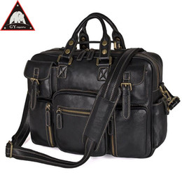 16 inches laptop 2018 - ANAPH Full Grain Leather Briefcases Men, Classic Messenger Bags 16 Inch Laptop Briefcase, Business Travel Bag In Black L