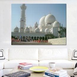 $enCountryForm.capitalKeyWord NZ - Canvas Paintings Home Decor HD Prints 1 Piece Pcs Islamic Mosque Pictures For Living Room Wall Art Architecture Poster Framework