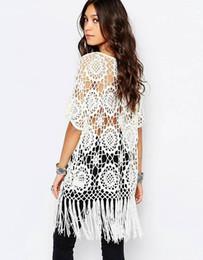 Fringe panels online shopping - Handmade Crochet summer cardigan Women s Outerwear Coats oversized cardigan crochet cardigan with fringe White Beige