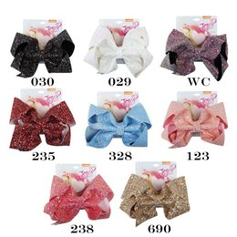 236f0eb0c219 8 Solid Colors Sparking Glitter Hair Bows Barrettes JoJo 2018 Boutique  Princess Hairclips For Girls Women Party Hair Accessories