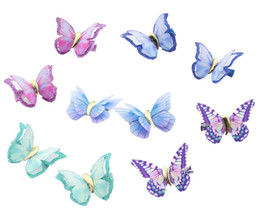 $enCountryForm.capitalKeyWord UK - 1-Pair Colorful Butterfly Baby Girls Hair Clips Hair Pins Barrettes for flower girls ladies Party Headpiece, wedding hair accessories