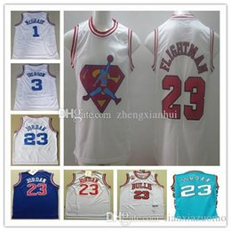 e78d43971830 2003 All Star 3 Allen iverson 1 Tracy McGrady 23 Michael Basketball Jersey  23 JD 1992 1997-98 Clasic white black Flightman Jerseys Stitched