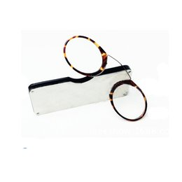 great readers NZ - Wallet Reading Glasses with Case Credit Card Size Emergency Eyeglasses Portable Pocket Purse Nose Resting Eye Reader Leopard Frame Fashion