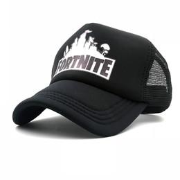 d3719f33672 Fortnite Trucker Cap Hot New Game 3d Print baseball cap Cool Mesh Caps  Summer Baseball Net Trucker Caps Hat For Men Women