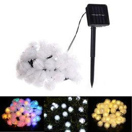 OutdOOr christmas light figures online shopping - Solar Snow Ball M LED Ball String Lights Solar Power Outdoor Decorative Fairy Lighting Patio Lights for Home Lawn