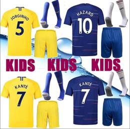 New 18 19 Top Chelsea soccer Jersey kids Kit GIROUD KANTE BAKAYOKO RUDIGER  WILLIAN HAZARD JORGINHO child 2019 KANTE Shirt uniforms 64ebc62e1
