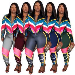 Leg Jacket NZ - Women winter Sportswear long sleeve 2 piece set jogging sportsuit jacket legging outfits casual tracksuit outerwear tights sport suit hot b3