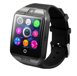 bluetooth blood UK - Hot selling Q18S smart watch bluetooth smartwatch camera TF Card and SIM Card Q18S Smart Watch NFC Bluetooth Compatible with IOS and Android