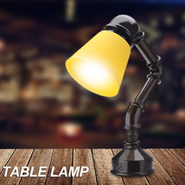 $enCountryForm.capitalKeyWord Australia - wholesale Table Book Lights Industrial Vintage Retro Style Water Pipe Shape Lamp Cafe Decorative Table Lamp Stand Home GiftDecor