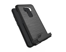 Hard Casing Card Holder Australia - hot mobile cell phone Luxury holder Kickstand Shockproof hard Wallet protect cover Brushed Card case for asus zenfone 3 ze552kl 5.5