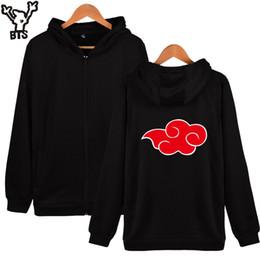 Naruto Animals Canada - Wholesale- BTS Naruto Hooded Hoodies Men Zipper Winter Classic Japan Anime Coat Fashion Cartoon Sweatshirt Men Funny Fashion Zipper Clothes