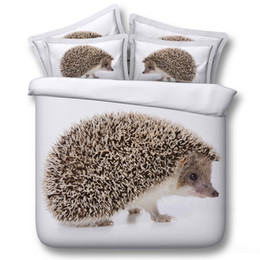 $enCountryForm.capitalKeyWord NZ - 3D Hedgehog bedding sets animal duvet covers white bedspreads comforter cover Bed Linen Quilt Covers bed cover for adults boys men