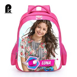 0f4d201899d 2018 Children Schoolbag Custom Made TV Show Soy Luna Backpack for Girl  Teenager Girl Backpack Women Travel Bag Mochila Infantil Y18120303
