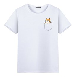 77fb89f7d9a9 2017 Fashion Pocket Funny Joke t shirt Doge Tee shirt Homme De Marque  O-Neck Printing Pattern Short Sleeve T-shirts tee shirt marque deals