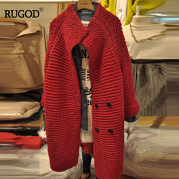 $enCountryForm.capitalKeyWord Canada - RUGOD 2018 Autumn Winter Korean Women Fashion And Elegant Cardigans Sweater All-purpose Casual Button Twist Long Knitted Sweater