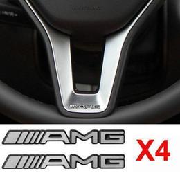 $enCountryForm.capitalKeyWord UK - 4Pcs Alloy ALUMINIUM AMG Steering Wheel Sticker Badge Logo Emblem S66 Free shipping