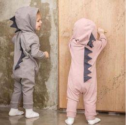 7389778580 BaBy wholesale onesies Bodysuits online shopping - Ins Dinosaur Romper Cute  Newborn Romper Kids Jumpsuit Infant