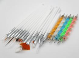 Discount dot nails - 20pieces a set Art Design Dotting Painting Drawing Polish Brush Pen Tools Nail Polish Art Brush